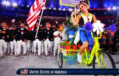 Abertura das Olimpíadas 2016 - Estádio do Maracanã-ESTADOS UNIDOS DA AMÉRICA