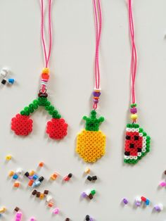 DIY Beaded Fruit Charms