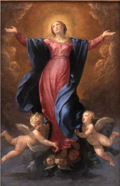 Artist: Guido Reni Completion Date: 1580 Style: Baroque Genre: religious painting Gallery: Museum of Fine Arts of Lyon Blessed Mother Mary, Blessed Virgin Mary, Religious Images, Religious Art, Assumption Of Mary, Mama Mary, Religious Paintings, Holy Mary, Catholic Art