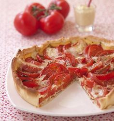 Tomato Tart, Mustard and Raclette Cheese – The Best Cooking Recipes from Ôdélices by Veggie Recipes, Fall Recipes, Vegetarian Recipes, Cooking Recipes, Raclette Cheese, Cheese Pies, Quiches, Tomato Pie, What To Cook