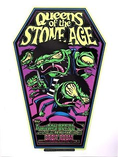 Dirty Donny Queens of the Stone Age Silkscreen Concert Poster 2007