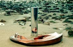 Jonty Hurwitz.....creates sculptures that need to be reflected in silver cylinders to see what they truly are...Anamorphic Sculptures | iGNANT.de