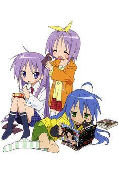 Tsukasa, Kagami, and Konata