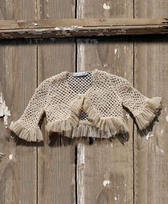 """Handmade knitted bolero made of fine cotton yarn in shade of vintage beige and decorated with pearl button. It matches perfectly with most of the dresses from the """"Designer's Cat"""" collection. Beige, Handmade, Cat, Vintage, Hand Made, Cat Breeds, Vintage Comics, Cats, Ash Beige"""