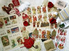 MAKE IT a Victorian Christmas this year! Bonnie from OneDayLongAgo on etsy specializes in Victorian, retro & traditional paper crafting goodies!