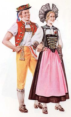 Switzerland.The herdsman is dressed in traditional costume: The woman is from the canton of Berne.