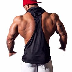 Men's Hooded Gym Tank Top Stringer Bodybuilding Vest Workout Muscle Shirt Black Medium: Set Include: Men's Tank Topbr / Condition: New without tagbr / Material: Cotton, Polyesterbr / Color: As Pictures Shown/p Ärmelloser Pullover, Bodybuilding, Stringer Tank Top, Shirts For Leggings, Gym Tank Tops, Hooded Vest, Muscle Shirts, Sleeveless Hoodie, Yoga Tops