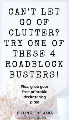 Overwhelmed by your cluttered house? Use these roadblock-busters and workarounds to FINALLY succeed and make real progress with your efforts. Speed Cleaning, Cleaning Hacks, Simple House, Clean House, Simple Living, Declutter Your Life, Declutter Bedroom, Clutter Organization, Organization Ideas