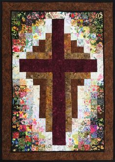 Sewing Quilts At The Cross Watercolor Quilt Kit – www. Cross Patterns, Quilt Block Patterns, Pattern Blocks, Quilt Blocks, Log Cabin Quilts, Barn Quilts, Small Quilts, Mini Quilts, Quilting Projects