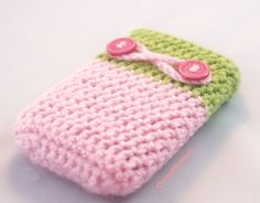 Pink Blackberry bold Cover, cell phone cozy, Pastel crochet case, Wool crochet romantic. This is super cute! I've made something like this before but not this cute good job @L a Farme / Anne Echeverria-Blair ooo Crochet!!