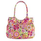 Pleated Shoulder Bag | Vera Bradley Love it and want it. Anything in this pattern or heather, flutterby, and the new paisley pattern really. Fell in love with these new Vera patterns.