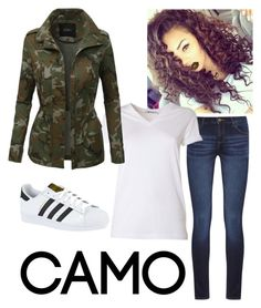 CAMO by sc028869 on Polyvore featuring polyvore, fashion, style, T By Alexander Wang, LE3NO, DL1961 Premium Denim, adidas, Lime Crime, clothing and camostyle