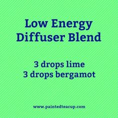 This blend uses lime and bergamot essential oils to help boost energy. Click for more essential oils for energy