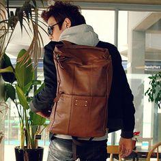 #men #leather #bag #backpack