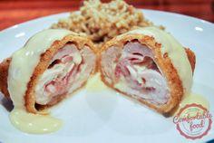 comfortable food - chicken cordon bleu with parmesan dijon sauce http://comfortablefood.com/le-chicken-cordon-bleu/
