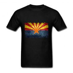 Men's Desgin Flag of Arizona State in vintage retro style Short Sleeve Tee Shirt