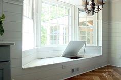 one side open window seat storage