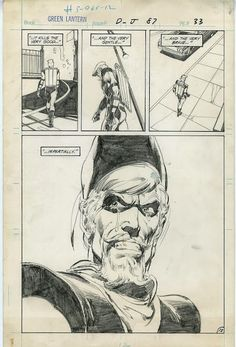 Green Lantern & Green Arrow - original art by Neal Adams