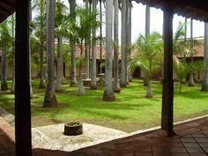 Beautiful courtyard in an old house in Granada Nicaragua