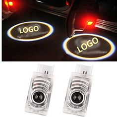 Spevert 2 Pcs LED HD Door Courtesy Shadow Ghost Lamp Welcome Laser Logo Shadow Light Projector light for Cadillac SRX ATS XTS CTS
