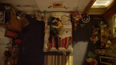 """In the short film """"Me & You,"""" the stages of a love story between a man and a woman are depicted through a single location and camera angle–the man's bedroom, as seen loo… Camera Frame, Camera Angle, Camera Shots, Angles, Short Of The Week, Types Of Shots, Film Theory, Late Night Thoughts, Gods Eye"""