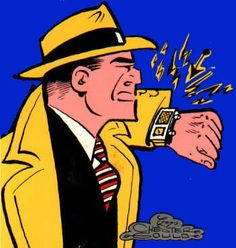 Dick Tracy comic strip.