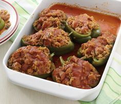 Easy Andouille-Stuffed Peppers - foodista.com