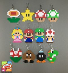 12 super Mario Party Favors fermeture à glissière par MadamFANDOM