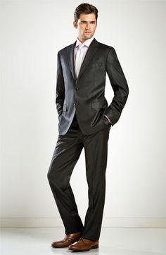 Versace Collection Trim Fit Charcoal Suit