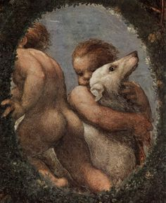Antonio da Correggio (1490–1534): Detail of Correggio's frescoes in the Camera di San Paolo (c.1519)
