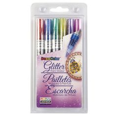 <Michael's craft store>These fine point markers adds sparkle to your project with every stroke. They are perfect f...