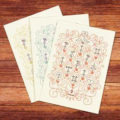 โปสการ์ด โน้ตการ์ด:::Notecards by Jessica Hische, Illustrator, letterer, graphic designer!