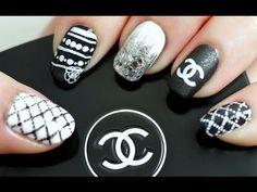 Chanel Inspired cool nailart #Tutorial ! #nails #Chanel #nailart