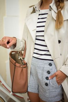 Gal Meets Glam gives us nautical vibes in our sailor shorts & sweater