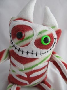 Monster plush Skeleton Monster Holiday Bonez plush doll stuffed animal