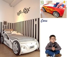 cama carro Boy Car Room, Race Car Room, Race Car Bed, Baby Boy Rooms, Baby Room, Child Room, Kids Bedroom Boys, Kids Room Organization, Toddler Bed