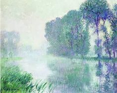 Gustave Loiseau By the Eure River - Afternoon, fog effect - The Largest Art reproductions Center In Our website. Low Wholesale Prices Great Pricing Quality Hand paintings for saleGustave Loiseau New Artists, Great Artists, Oil Painting Basics, Painting Art, Painting Clouds, Muse Art, Post Impressionism, Oil Painting Reproductions, Large Art