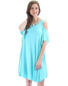 Jade Lyss Loo Open Shoulder Over Sized Tunic Dress #tunicdresses #dress #dresses