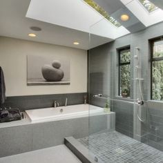 Love the shower and tub proximity/combo. Love the natural and artificial lighting balance.
