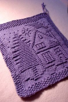 A Christmas Dishcloth Knit Pattern