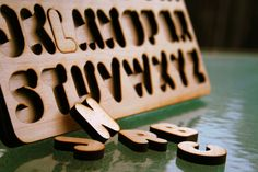 Maple #alphabet puzzle for the little ones. #typography
