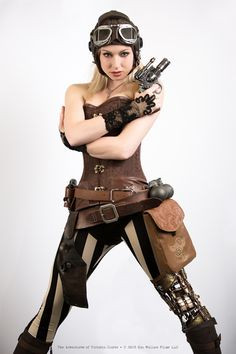 A great publicity shot for http://www.victoriaclarkeadventures.com/  If you're into steampunk entertainment, head on over and check it out!  They can use the support.