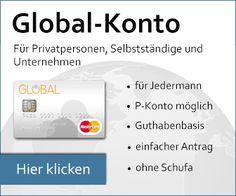Deutsches Geschäftskonto bzw. Firmenkonto ohne Schufa bzw. trotz negativer Bonität in zwei Varianten