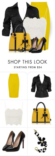"""""""J. Crew Skirt"""" by daiscat ❤ liked on Polyvore featuring J.Crew, Forever 21, Topshop and Andrew Hamilton Crawford"""