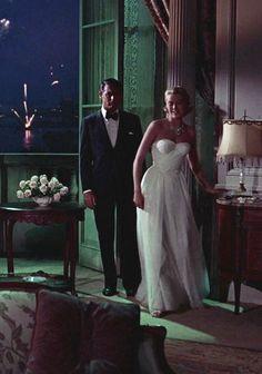 Grace Kelly e Cary Grant in Caccia al ladro