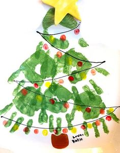 Julie, of Spain ask me some ideas for Christmas Program Cover Activity for Primary or kids at home Souvenirs or decoration Some ide. Homemade Christmas Cards, Handmade Christmas Gifts, Christmas Crafts For Kids, Xmas Crafts, Kids Christmas, Christmas Decorations, Handprint Christmas Tree, Xmas Tree, Christmas Program