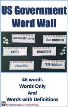 Encourage students to use academic vocabualry as you study about the United states Government. 46 Words you can post as word only or word with definition. Social Studies Classroom, School Classroom, Classroom Ideas, School Cafe, Vocabulary Instruction, Teacher Created Resources, Middle School, High School, Teaching Strategies