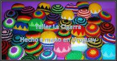 Footbag - Fuchiball - Hacky Sack - Pelota artesanal a crochet - $100