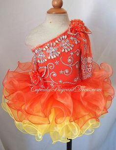 one lace sleeve stunning girl baby dresses girl prom dresses baby party dress little girl pageant dress Pagent Dresses For Kids, Pageant Dresses For Women, Toddler Pageant Dresses, Glitz Pageant Dresses, Little Girl Pageant Dresses, Pageant Girls, Toddler Dress, Girls Dresses, Infant Toddler