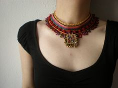Hello and happy Monday to you. Today I'm featuring theunique crochet jewelryof a family owned business in Turkey. Mom is the creative i...